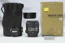 Nikon F Nikkor AF S 40 2.8 G Micro Macro Makro DX OVP boxed box Karton Schachtel