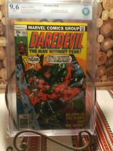 Daredevil # 153 CBCS 9.6 White Pages