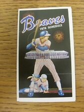 1978 Fixture Card: Baseball - Atlanta Braves (fold out style). Any faults with t