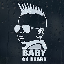 Baby On Board Funny Little Dude Punk Car Window Or Bumper Decal Vinyl Sticker