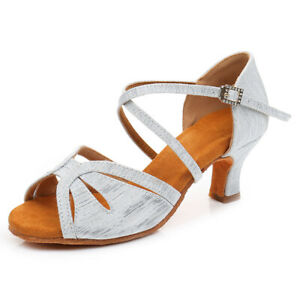 Ballroom Latin Dance Shoes Women Ladies Girls Salsa Tango Shoes 5/7cm High Heels