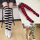 Zebra Stripey Over the knee socks Striped stocking High thigh Free size