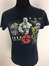 WWE Wrestling John Cena T Shirt Sz Small 2008 Champion Navy Blue Short Sleeve