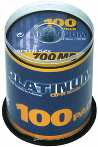 200 Platinum Rohlinge CD-R 80Min 700MB 52x Spindel