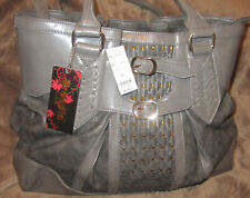 Arcadia U.S.A. Textured Faux Leather Hand Bag Shoulder Bag Double Handled Xtra L