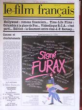 Le Film Français N°1850 (20 mars 1981) Signé Furax - Hollywood - Columbia