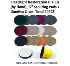 3 inch Headlight Restoration DIY Kit (by Hand), Total 20PCS