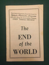 oliver b greene booklet The End of the World 31 page booklet