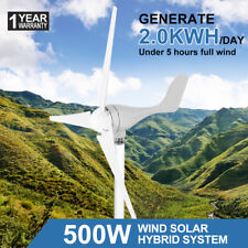 500w DC 12v Wind Turbine 3 Blade Wind Generator Electricity Producer Equipment L