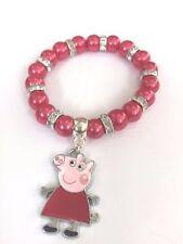 PIG CHARACTER BRACELET IN GIFT BAG - BIRTHDAY PRESENT / STOCKING FILLER PEPPA