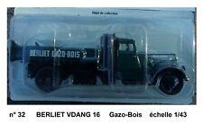 n° 32 BERLIET VDANG 16 GAZO-BOIS Camion à benne basculante 1/43 Neuf en Boite