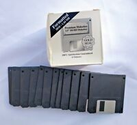 """Lot NEW FORMATTED IBM 1.44MB 3.5"""" DS/HD DISKETTES Gold Seal FLOPPY DISKS 1.44 MB"""