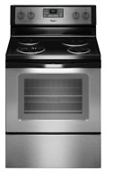 Whirlpool WFC310S0ES Self-Cleaning Stainless Steel Electric Range New