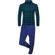 MIA Fluffy Fleece Mens Sleeping Pajama Set Nightwear Pjs Trouser Shirt UK(16-18)