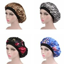 Women Wide Band Satin Bonnet Comfortable Night Sleep Hat Hair Cap Womens Turban
