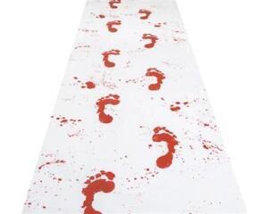 blutiger Teppich für Halloween Party Deko Läufer Zombies Horror 4,50m x 0,60 cm