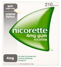 Nicorette Gum 4 mg Nicotine Original Flavor, 210 Pieces NEW