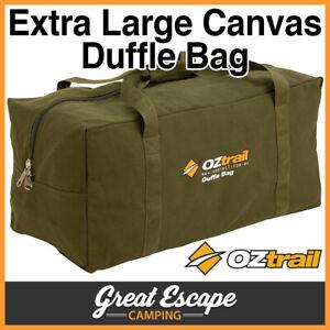 OZtrail Canvas Duffle Bag XL Heavy Duty Canvas Luggage Extra Large