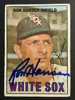 Ron Hansen White Sox signed 1967 Topps baseball card #9 Auto Autograph