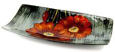 Super Geschenk Teller Glas Decoupage Schale Blumen einmalig Obstschale