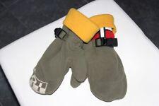 NAPAPIJRI ! Neuw. khaki / gelbe weiche Fleece Fausthandschuhe in Gr. 1