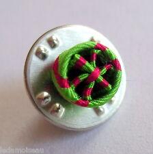 FRANCE: Boutonnière rosette pins d'OFFICIER du mérite agricole, diamètre: 6 mm.