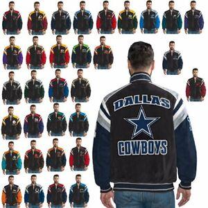 Officially Licensed NFL Men's Suede Jacket 553296/557454-J