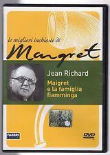 dvd Le migliori inchieste di Maigret MAIGRET E LA FAMIGLIA FIAMMINGA J. RICHARD