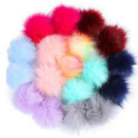 Trend DIY Faux Fur Fluffy Pompom Ball for Hats Shoes Scarves Keychains Bag Gift