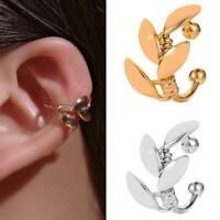 1X Womens Ear Cuff Earrings Wrap Fashion Clip On Punk Rock Fake Stud Cuffs T0H7