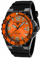 Swiss Legend 10008-BB-06-OB Expedition Org Dial Black Ion Plated 200m Dive Watch