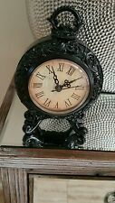 Brand new  black clock  mantle . Stunning.  Home. Display. Vintage.  Chic