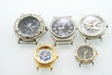 Fossil Men Women Watch Gold Silver Stainless Battery Water Res Non-working Parts