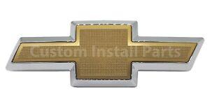 Gold Front Grille Bowtie Emblem Badge Replaces GM Part #12542999 or #15686146