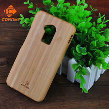 With LOGO Natural Bamboo Wood Wooden Hard Back Phone Cases For HTC one max Cover