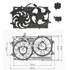 Dual Radiator & Condenser Fan Assembly Fits: 2000 - 2002 Ford Focus L4 2.0L