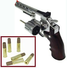 "Win-Gun 4""-inch Airsoft Magnum Metal Revolver WG-701 w/Shells +RIS FREE Shipping"