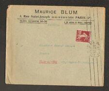 "PARIS (II°) TISSUS ""Maurice BLUM"" en 1925"
