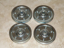 "Garage Door 3"" Sheave Pulleys (4 pack) - Extension Spring Pulley Wheel NEW!"
