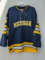 Vintage Michigan University Ice Hockey Jersey, Nike, XL, Rare, 🏒