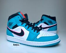 5e99cffdea6163 Nike Air Jordan 1 Mid SE Riverwalk South Beach Turbo Green Black Pink  852542 306