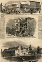 San Francisco Earthquake October 8 1865 Street Scene Destruction Harper's Weekly