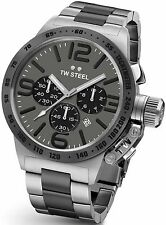 TW Steel Canteen Bracelet 50mm Chronograph Watch CB204. Tachymeter on Bezel.