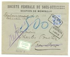 SWITZERLAND 1906 COVER -REMBOURSEMENT --MI# 55 y ( ZU# 62 B ) --REFUSE- VF