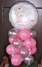 "18""FOIL BALLOON CHRISTENING BALLOON TABLE DECORATION FIZZY MOON BABY GIRL"