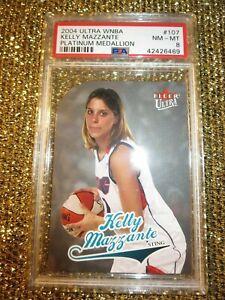 Kelly Mazzante WNBA Platinum Medallion 2004 Fleer Ultra Penn State 18/25 PSA RC