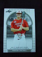 Preston Hartsell 2017 Perfect Game All American Leaf Baseball Card Aflac