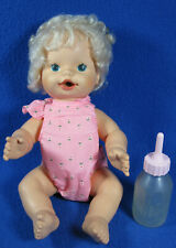 "Vintage 1982 Baby Alive Doll w/ Lever CPG Products Corp 14"" And Bottle"
