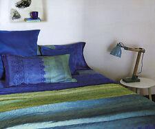 Completo Lenzuola Matrimoniale Appiani Blu Verde Indanthren Granfoulard Bassetti