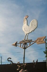 Vintage Weather Vane With Rooster Manufactured By Robbins Company Maryville, Mo